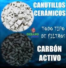 PACK 100GR CANUTILLOS CERAMICOS + 50GR CARBON ACTIVO SUPER - ACTIVADO FILTROS