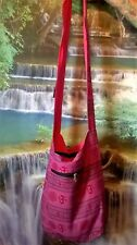 ZIP UP HIPPY HAPPY SHOULDER BAG FESTIVAL COLOURFUL BOHO ETHNIC  KB34