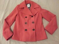Womens Old Navy Wool Jacket S Small Orange