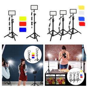 LED Videoleuchte mit Stativ Ständer Farbfilter Make up Fotostudio Kit