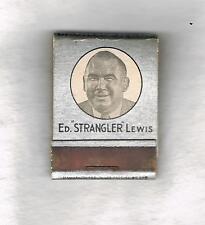 VERY RARE Ed Strangler Lewis wrestling matchcover restaurant boxing wrestler