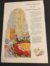 Vintage Good Housekeeping Magazine Ad 1929  Bathroom Kitchen Mazola Oil Radiator