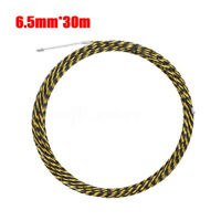 1Pcs 6.5mm*30m Cable Push Puller Conduit Snake Rodder Fish Tape Wire Guide @