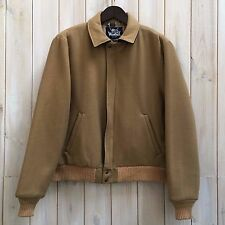 Vintage Woolrich Short Camel Virgin Wool Harrington Bomber Jacket Coat USA L