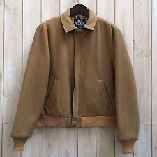 VINTAGE WOOLRICH corto cammello lana vergine Harrington Bomber Jacket Coat USA L
