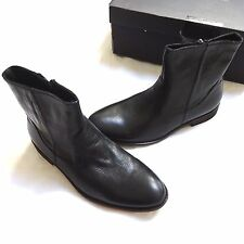 NEW BANANA REPUBLIC RUSSELL ZIP BLACK LEATHER ANKLE BOOTS 9