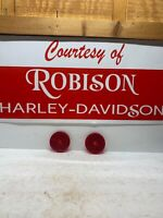 NOS Red Harley-Davidson Saddlebag Reflector SET OEM 59264-86 Robison HD FXR