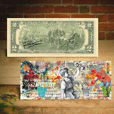 Frontline Heroes $2 Bill By Rency Art  - Batman Spiderman - Banksy Game Changer
