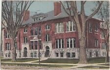 Michigan MI Postcard c1910 MARSHALL High School Buiding
