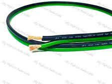 100' feet TRUE 12 Gauge AWG GREEN/BK Speaker Wire Car Home Audio ft GA