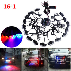 32 LED Car Trucks Strobe Emergency Lights Bars Deck Dash Grille Decoration Lamp