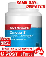 Nutra Life Triple Strength Omega 3 220 Capsules Concentrated Fish Oil EPA DHA