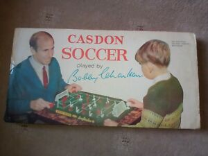 Casdon Soccer Bobby Charlton Table Top Football Game Vintage 1960's