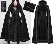 Manteau long cintré cape gothique baroque victorien brodé corset hiver PunkRave