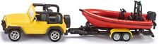SIKU  1658  Jeep mit Boot   ,  NEU & OVP,  DHL - Paketversand