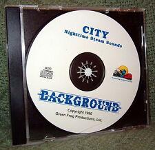 "56011 MODEL RAILROAD SOUND EFFECTS AUDIO CD ""CITY NIGHT STEAM"""