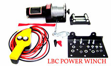 Power Winch truck trailer Boat with Remote Control 12 V Cable 2000 LB Cap