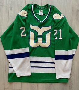 VTG 70s 80s Hartford Whalers Blaine Stoughton Maska Ultrafil NHL Hockey Jersey M