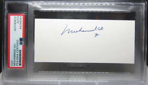 MUHAMMAD ALI Signed Authentic AUTOGRAPH Autographed Cut Signature PSA/DNA