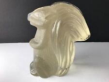 Glass Figurines Animals Squirrel Paperweight Bookend Frosted Glass