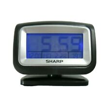 Sharp Lighted Alarm Clock Date Fahrenheit Temperature Battery Wireless Travel