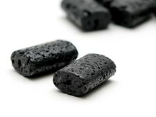 2x Lava - rechteckig, 13x20 mm schwarz, durchbohrt /5093s