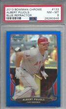 2013 Bowman Chrome baseball card #133 Albert Pujols, Los Angeles Angels PSA 8