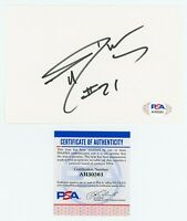 TIM DUNCAN PSA/DNA Autographed 4x6 Index Card - SAN ANTONIO SPURS AUTO - HOF COA