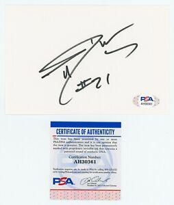 TIM DUNCAN PSA/DNA Autographed 4x6 Index Card - SAN ANTONIO SPURS AUTO - HOF COA