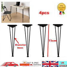 4pcs Solid Steel Hairpin Table Legs Furniture Desk Bench Soppurt Feet 730MM