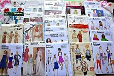 LOT of 25+~ALL UNCUT SEWING PATTERNS:APRON&MISSES&JEANS&UNIFORM+CRAFT+SCARF++