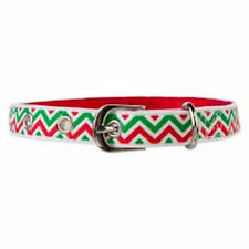 Top Paw Waterproof Christmas Stripes Dog Buckled Collar - SALE BENEFITS RESCUE