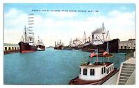 1951 Piers A and B, Alabama State Docks, Mobile, AL Postcard *5F25
