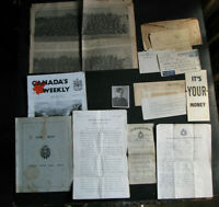 WWII CANADIAN ARMY SONGBOOKS/COVERS/POEM Named Grouping 1st/2nd BATTALION vtg