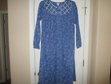NWT ADONNA BALLET LENGTH 100% COTTON BLUE NIGHTGOWN LARGE RETAILS $39.00