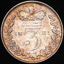 More details for 1881   victoria threepence   silver   coins   km coins