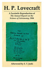 Full Color Facsimile of H. P. Lovecraft Astronomy Hand-Drawn Pamphlet from 1904!