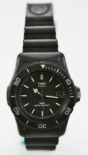 Timex Watch Unisex Black Plastic Easy Read Water Resistant Battery Date Quartz