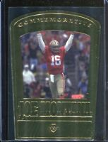 Joe Montana 2000 Upper Deck Collectibles Commemorative 22 Karat Gold Card /2500