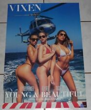 AUGUST AMES RILEY REID ABELLA DANGER Rare 27x19 2-Sided VIXEN Poster! AVN 2018