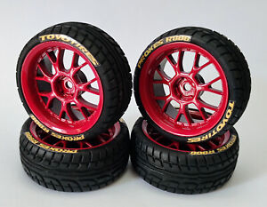 1/10 Rc Car Wheels Tires for Tamiya tt01 tt02 Hpi Rs4 Sprint2 Traxxas 4tec Glued