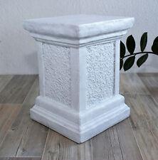 Säule in Antik-Weiss, Sockel für Figuren, Stele  Garten Deko Stein frostfest