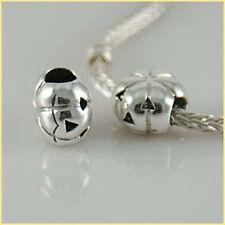 Calabaza Halloween sólido de plata esterlina 925 encanto grano ajuste pulsera Europea