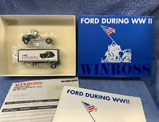 WINROSS FORD DURING WWII Semi Tractor & Trailer