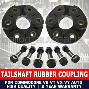 2 Front & Rear Rubber Driveshaft TailShaft Couplings Commodore VX VY VZ V6 Auto