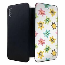 iPhone XS MAX Flip Wallet Case Cover Turtles Cute Pattern - S1959