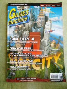 Rivista TGM The Games Machine nr. 165 Gennaio 2003 Videogiochi PC SIM CITY NBA