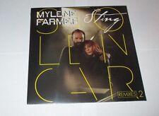 Mylene Farmer et Sting / Stolen car remixes 2 maxi 45 tours vinyl  (neuf scellé)