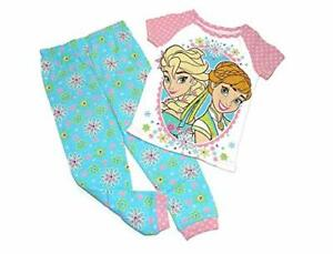 Frozen Anna and Elsa Girl's Floral Cotton Pajama Pants Set, Size 3T