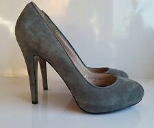 Zara Women's Grey Suede Style  High Heels Party Wedding Office UK 5/38  Blogger